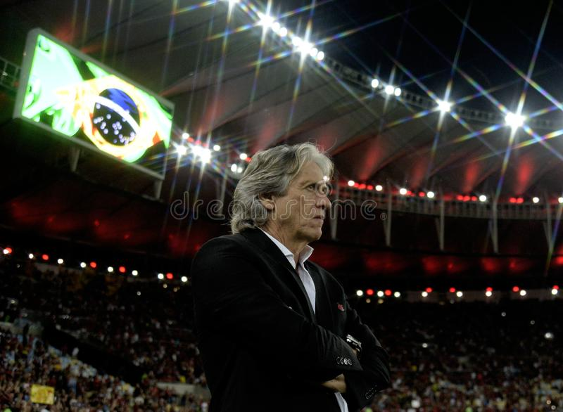 Flamengo coach Jorge Jesus stock photography