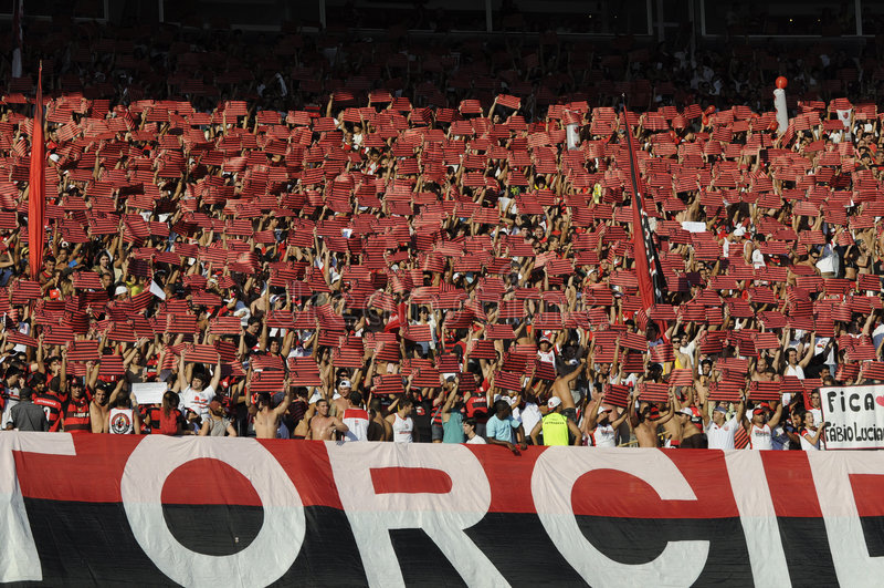 Flamengo contro Botafogo immagine stock