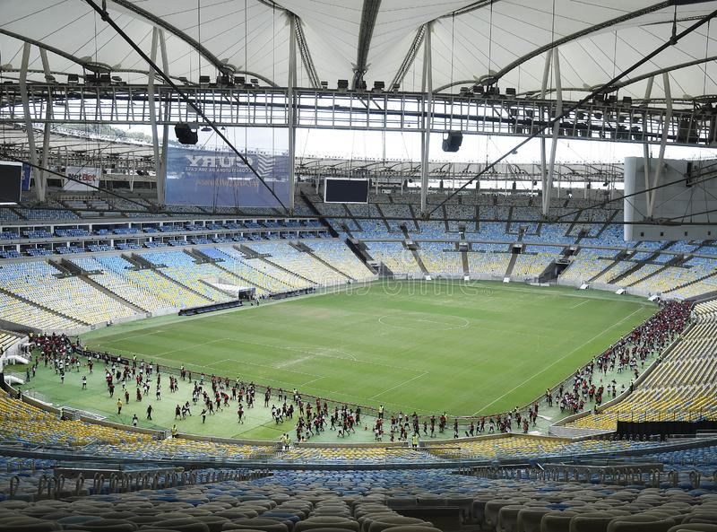 Flamengo fan rasa przy Maracanã stadium zdjęcia royalty free
