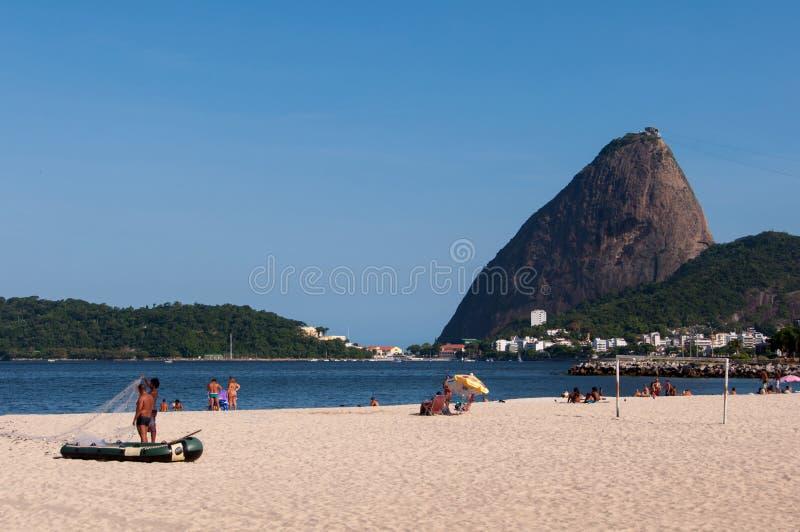 Flamengo strand fotografering för bildbyråer