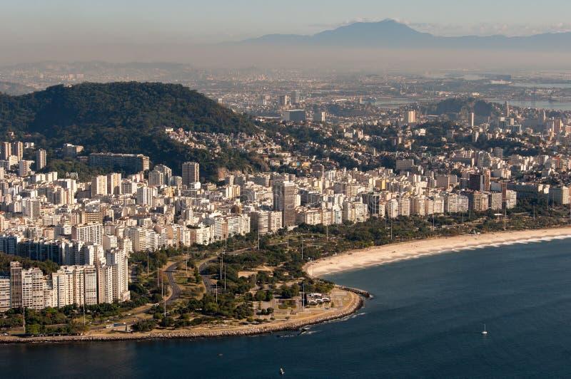 Flamengo strand i Rio de Janeiro, Brasilien arkivfoton