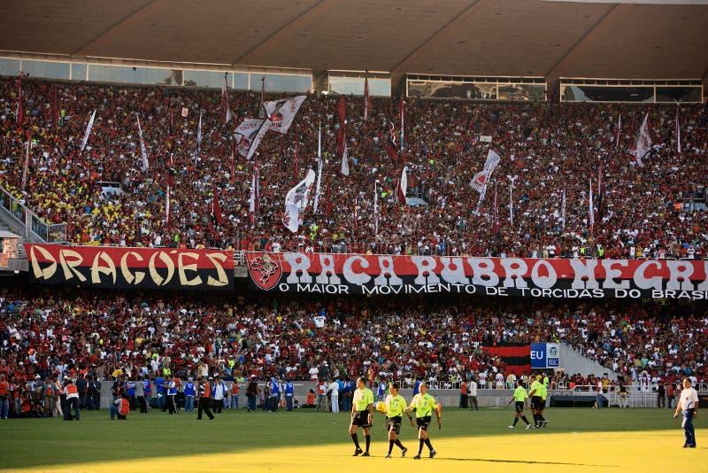Flamengo zwolenników maracana stadium zdjęcie stock
