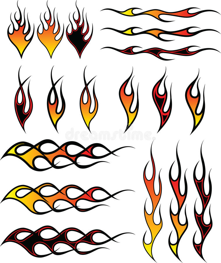 Flames_1 royalty illustrazione gratis