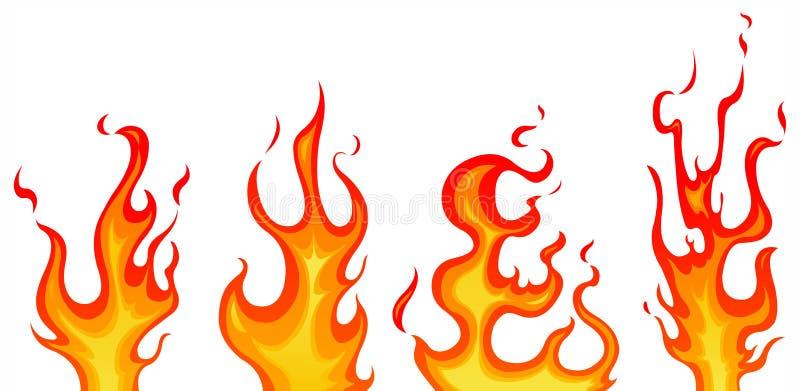 Flames stock illustration