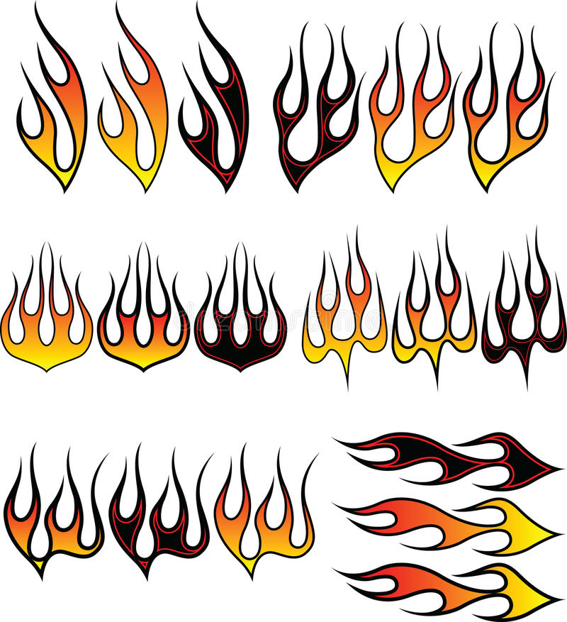 Flames_2 illustration libre de droits