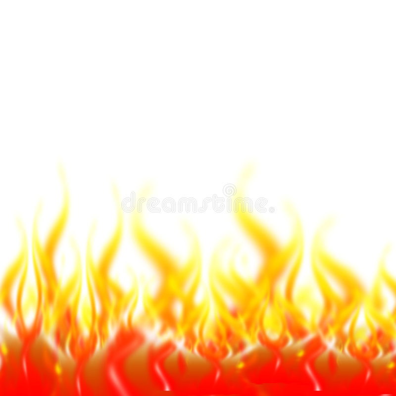 Flames. Abstract fire background - computer generated