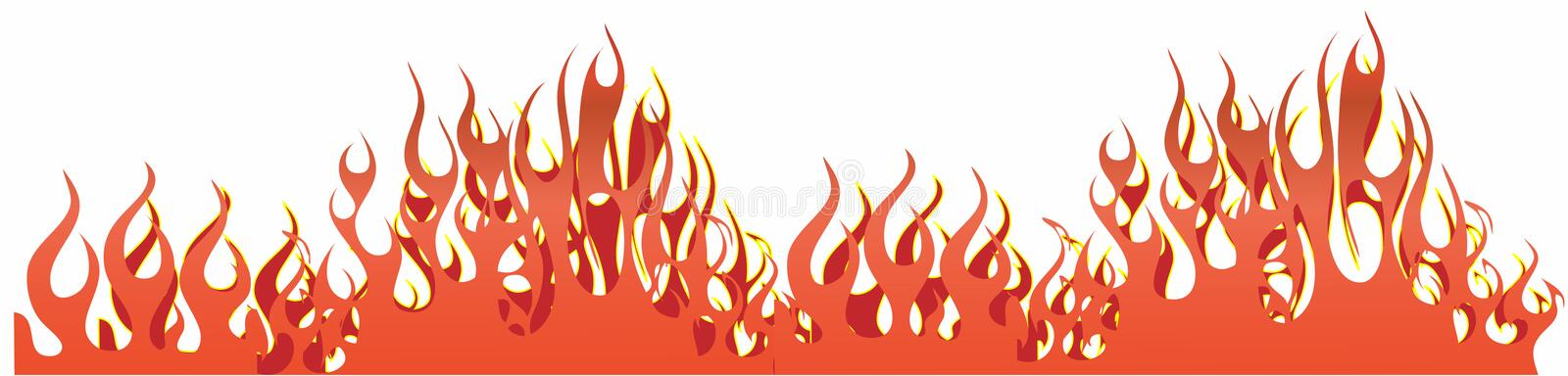 Flames stock illustration