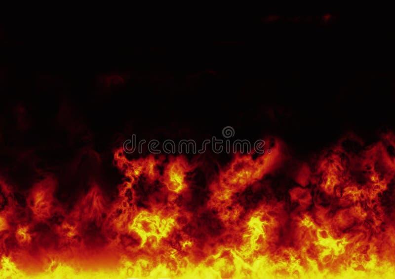 Flames. Big flames on black background vector illustration