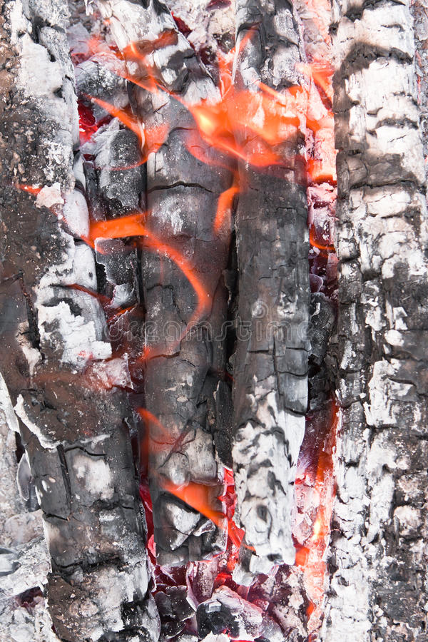 Flames And Ash Royalty Free Stock Images