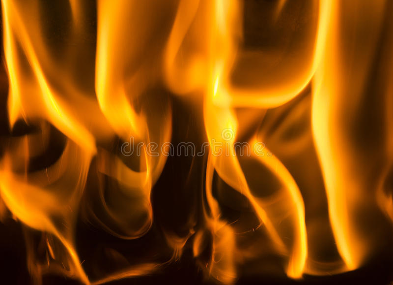 Flames background. Fire flames on black background royalty free stock photography