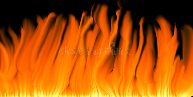 Flames background vector illustration