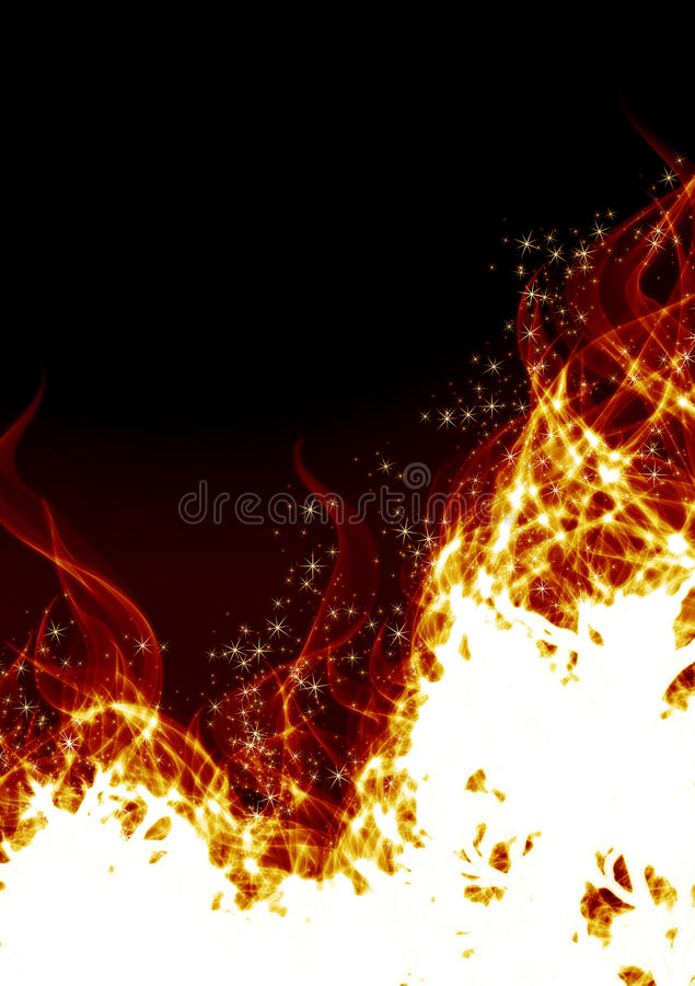 Flames on a black background royalty free stock images