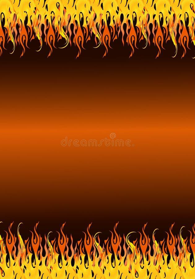 Flames Border Stock Photo