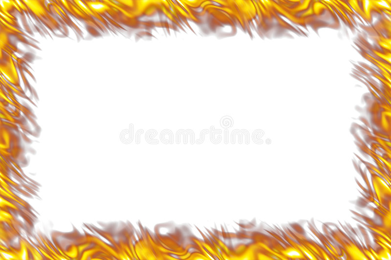Download Flames Border on White stock illustration. Image of fire - 6004510