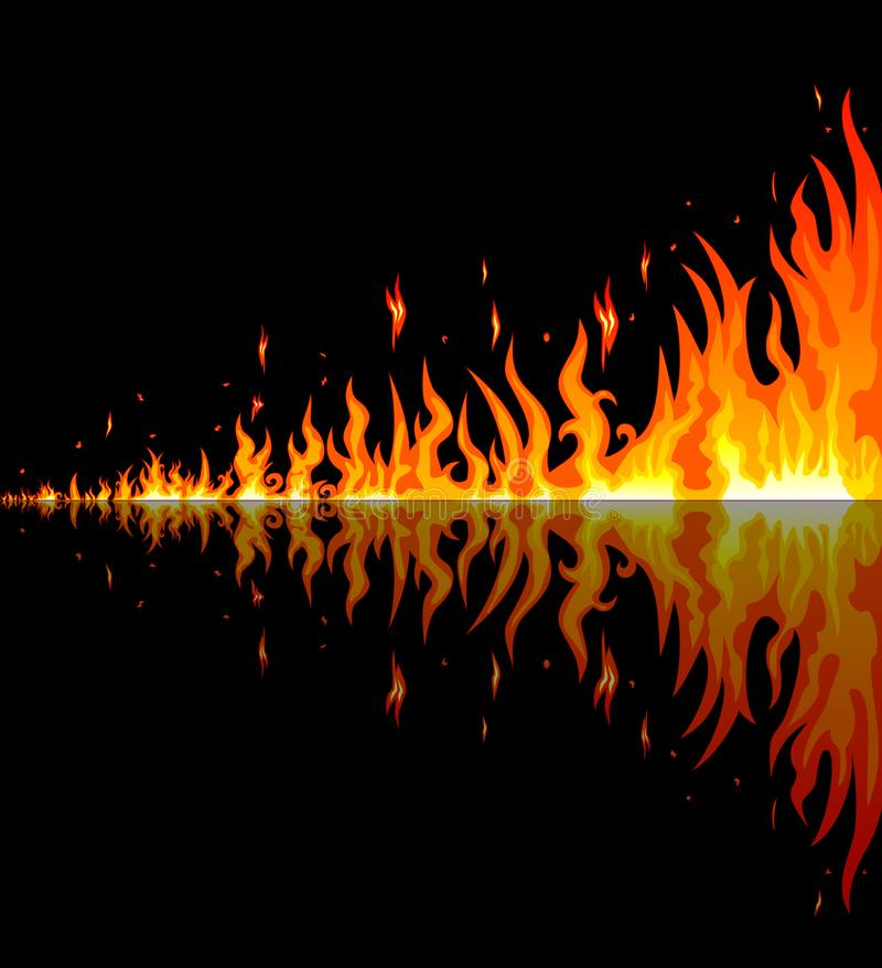 Burning flames. Abstract fire.Flames burning fire vector illustration