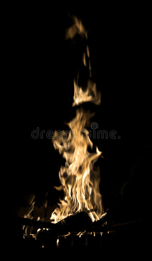 Flames of burning fire isolated royalty free stock photo
