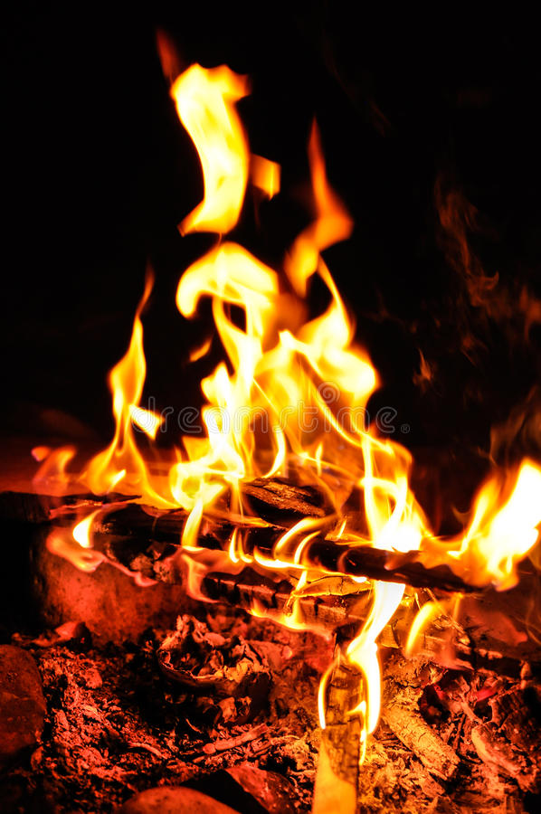 Download Flames of campfire stock image. Image of outdoor, glowing - 26570673