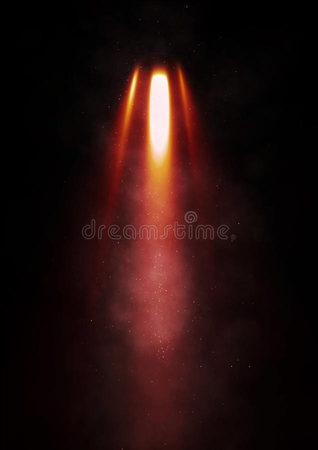 Free Flames Erupt From A Rocket Royalty Free Stock Photography - 61325457