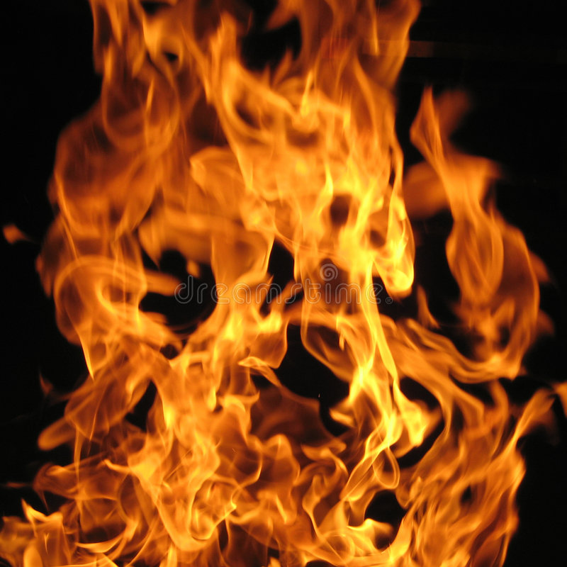 Flames from a Fire royalty free stock image