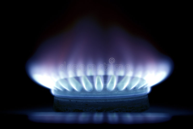 Flames of gas stock photography