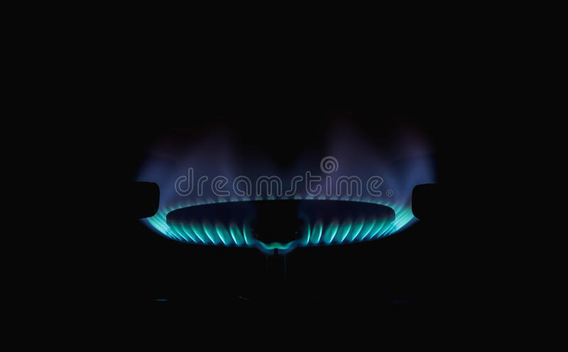 Flames of gas . royalty free stock image
