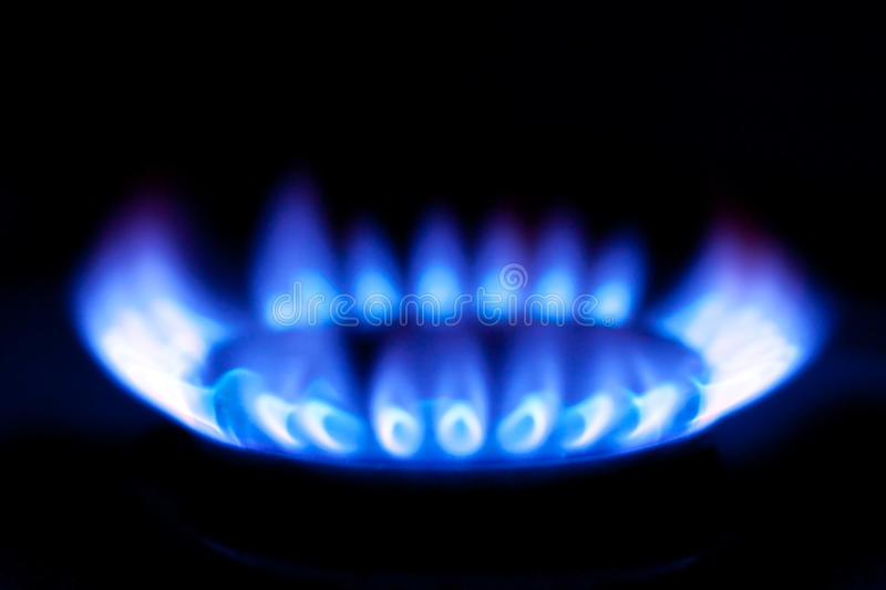 Download Flames of gas stove stock image. Image of flaming, burner - 13056095