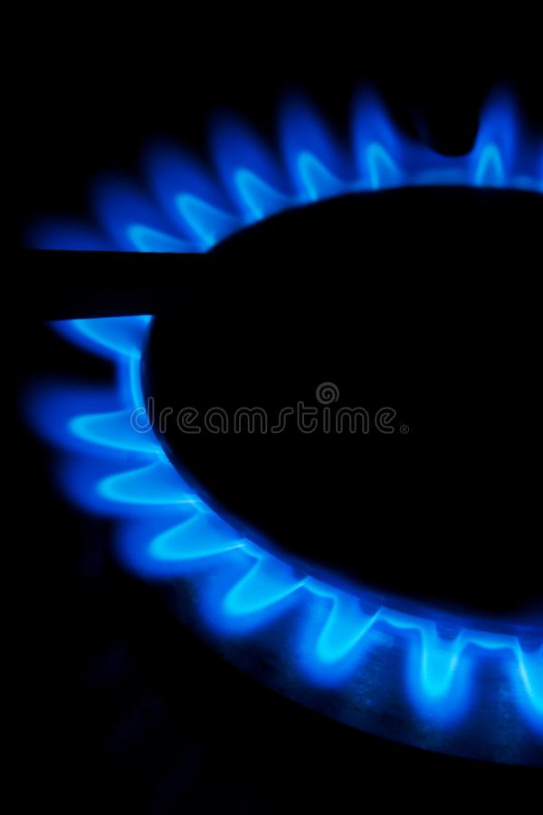 Flames from a gas stove