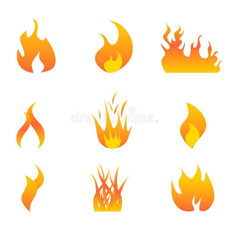 Flames icon set