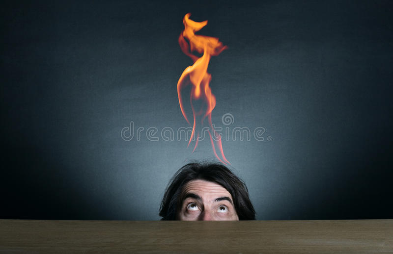 Download Flames and man stock photo. Image of hide, eyes, metaphor - 22657944