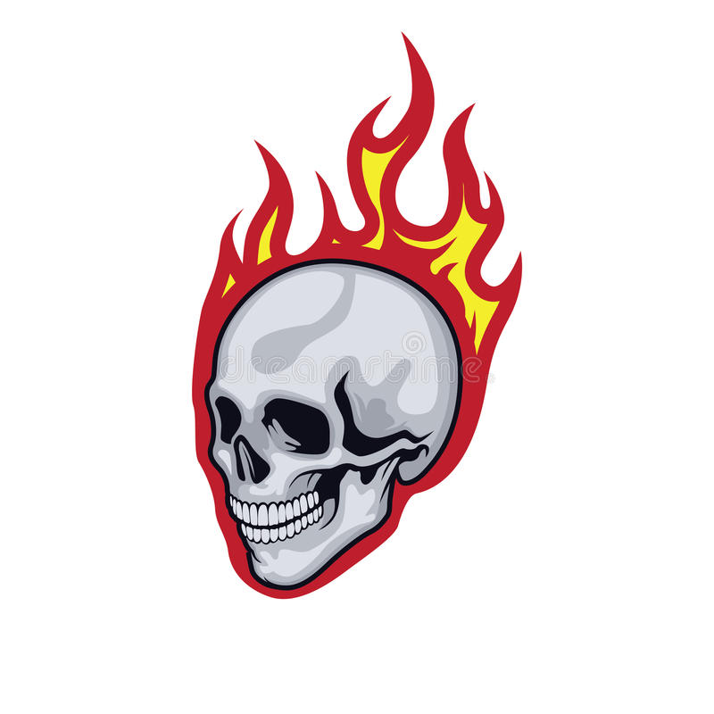 Flames skull royalty free stock images