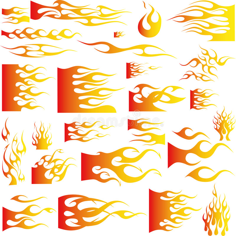 Flames-Vector royalty free illustration