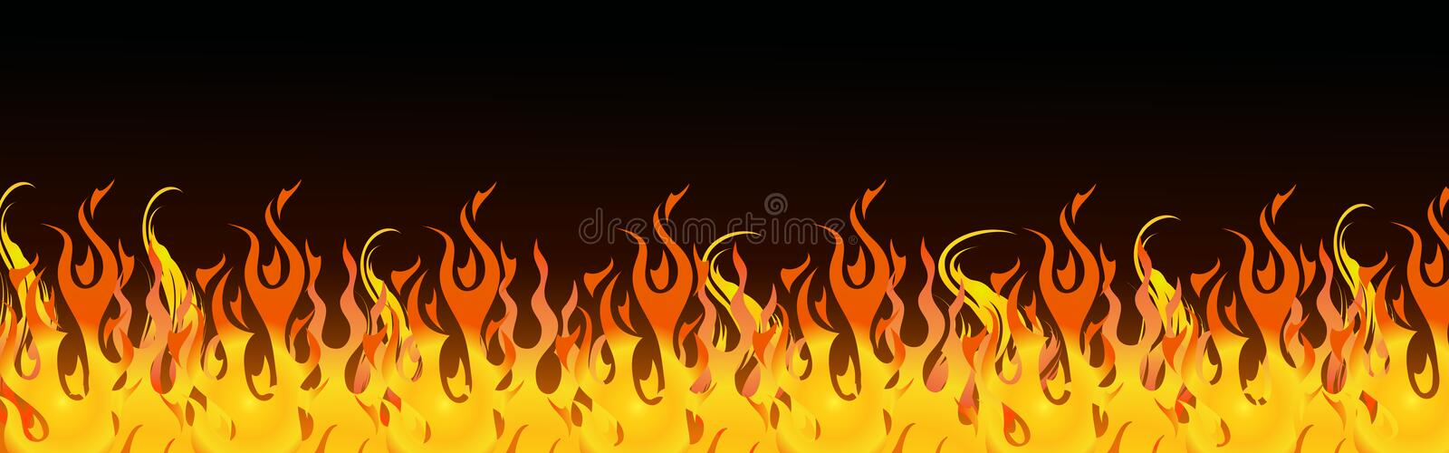 Flames web header stock illustration