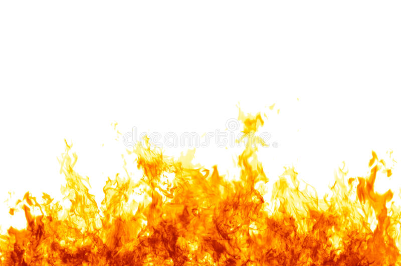Flames on white vector illustration