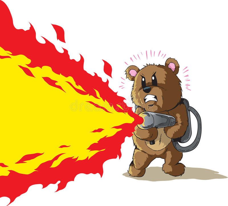Free Flamethrower Bear Stock Photography - 43273272