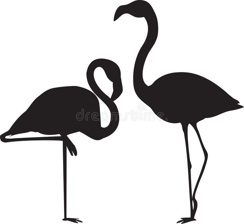 flamingów wektory royalty ilustracja