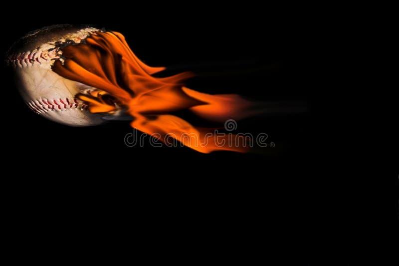 Flaming Baseball stock photography