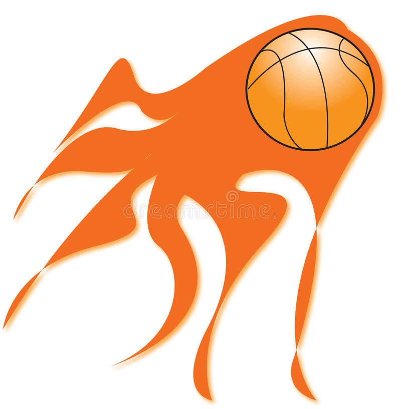 Download Flaming basketball stock illustration. Illustration of attack - 12360239