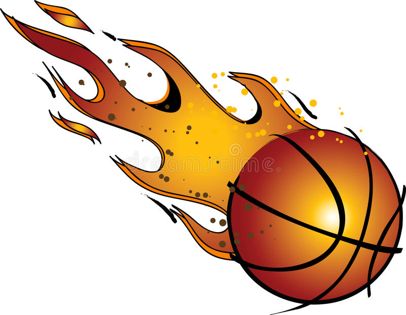 flaming basketball vector clip art stock vector illustration rh dreamstime com basketball clipart free basketball picture clipart