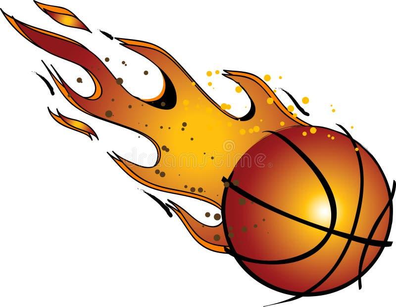 Flaming Basketball...Vector / Clip Art royalty free stock photos