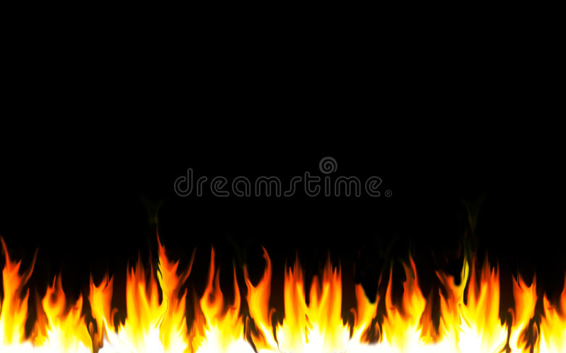 Flaming Border. Flames along the lower horizontal border, against a black background royalty free stock photography