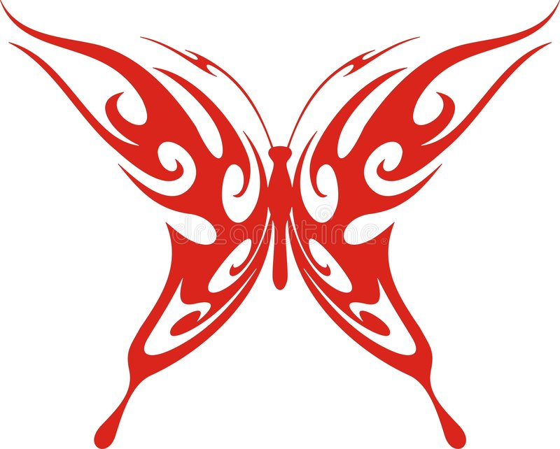 Flaming Butterfly Stock Image