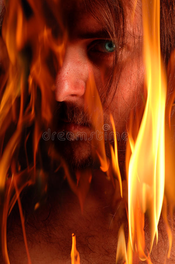 Flaming demon stock images