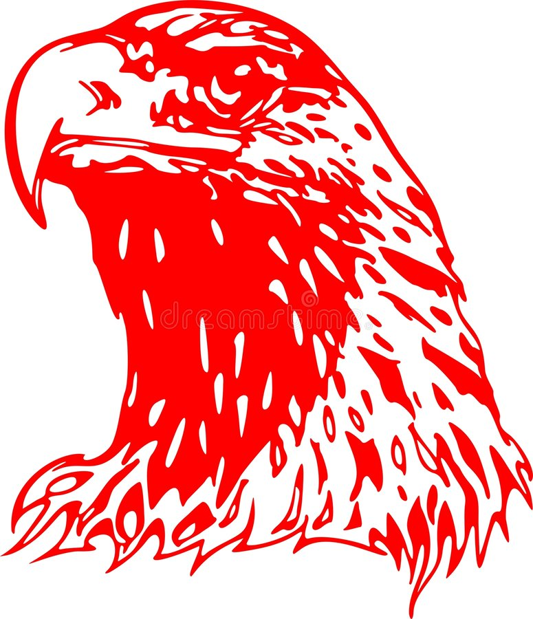 Flaming Eagle Head 2 vector illustration
