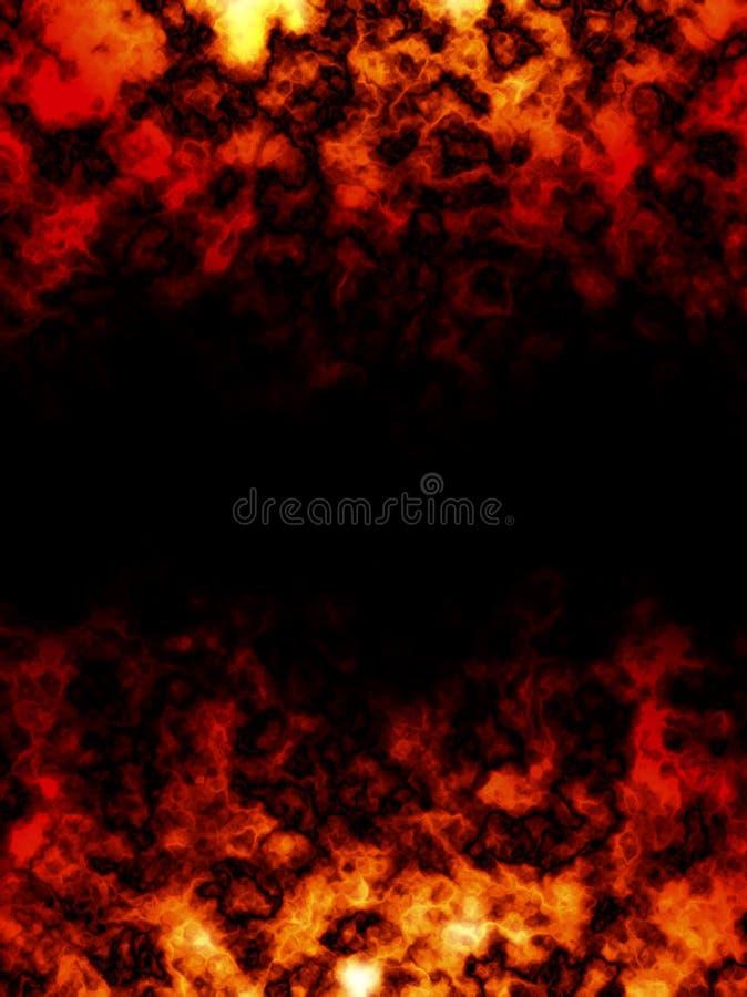 Flaming frame stock image