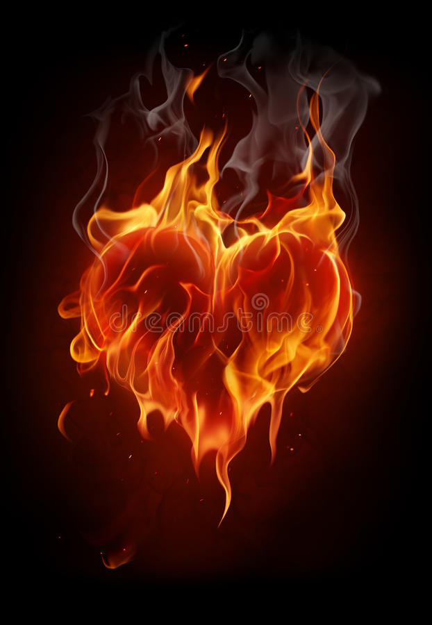 Free Flaming Heart Royalty Free Stock Photos - 17907988