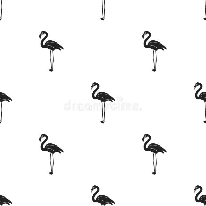 Flaming ikona w czerń stylu odizolowywającym na białym tle Ptaka wzoru zapasu wektoru ilustracja royalty ilustracja