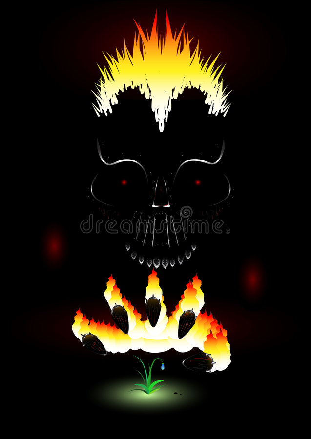 Download Flaming Metal stock vector. Illustration of kill, fear - 4433097