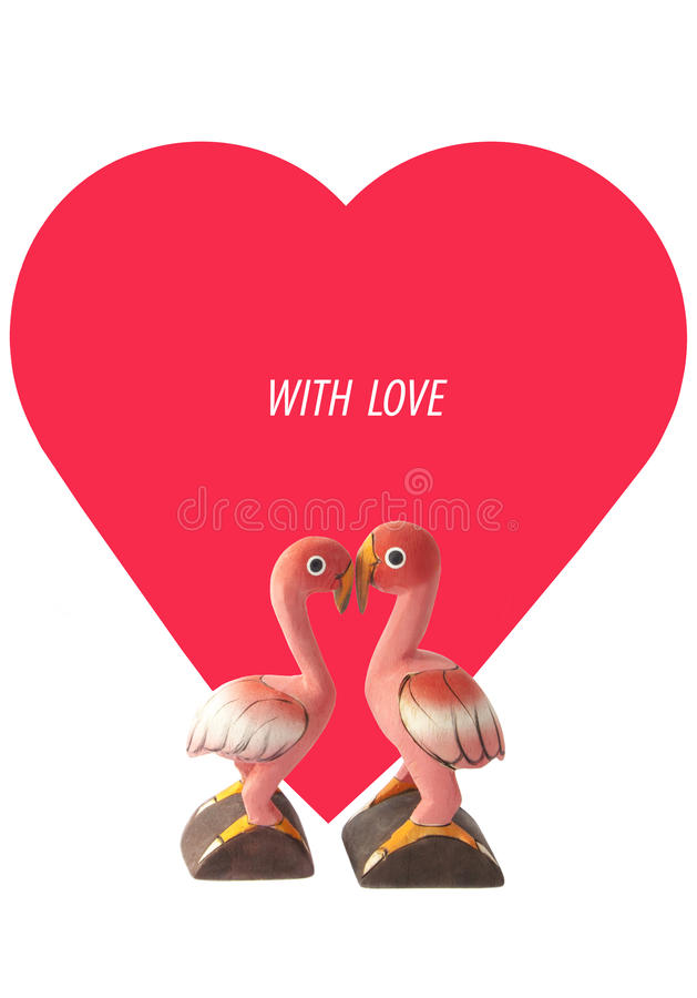 Flaming miłość royalty ilustracja
