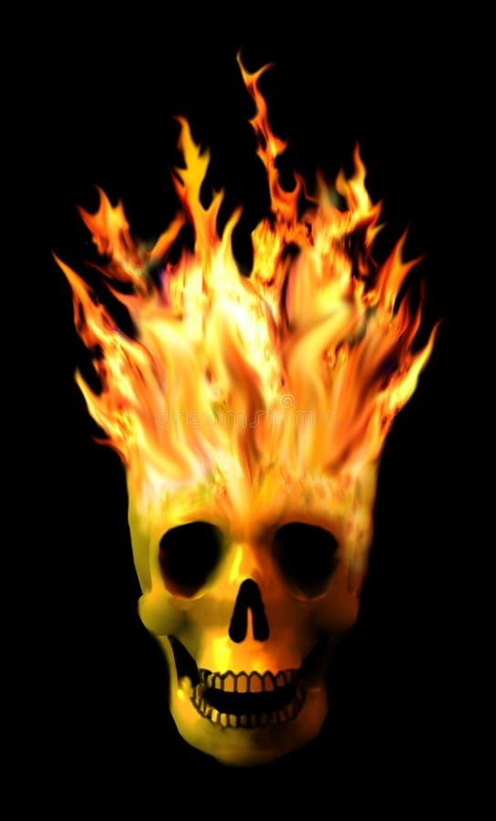 Free Flaming Skull Royalty Free Stock Images - 6963439