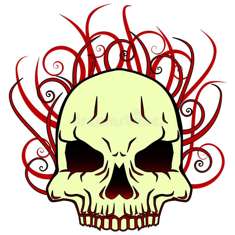 Flaming Skull Tattoo Stock Illustrations 168 Flaming Skull